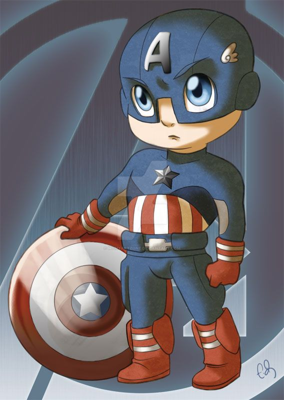 chibi avengers captain america by mymyartzone on deviantart