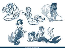 Mermaids Doodles