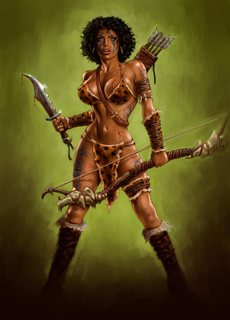Amazonian nude warrior art naked photos