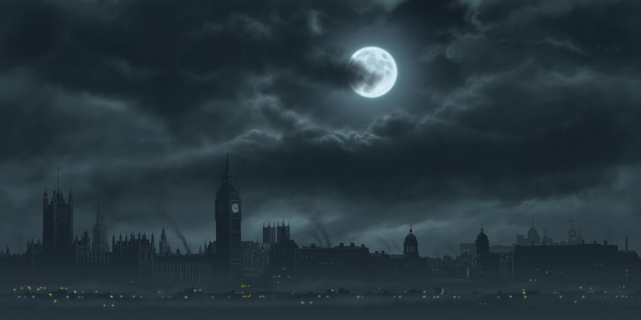 Dark London Art Painting