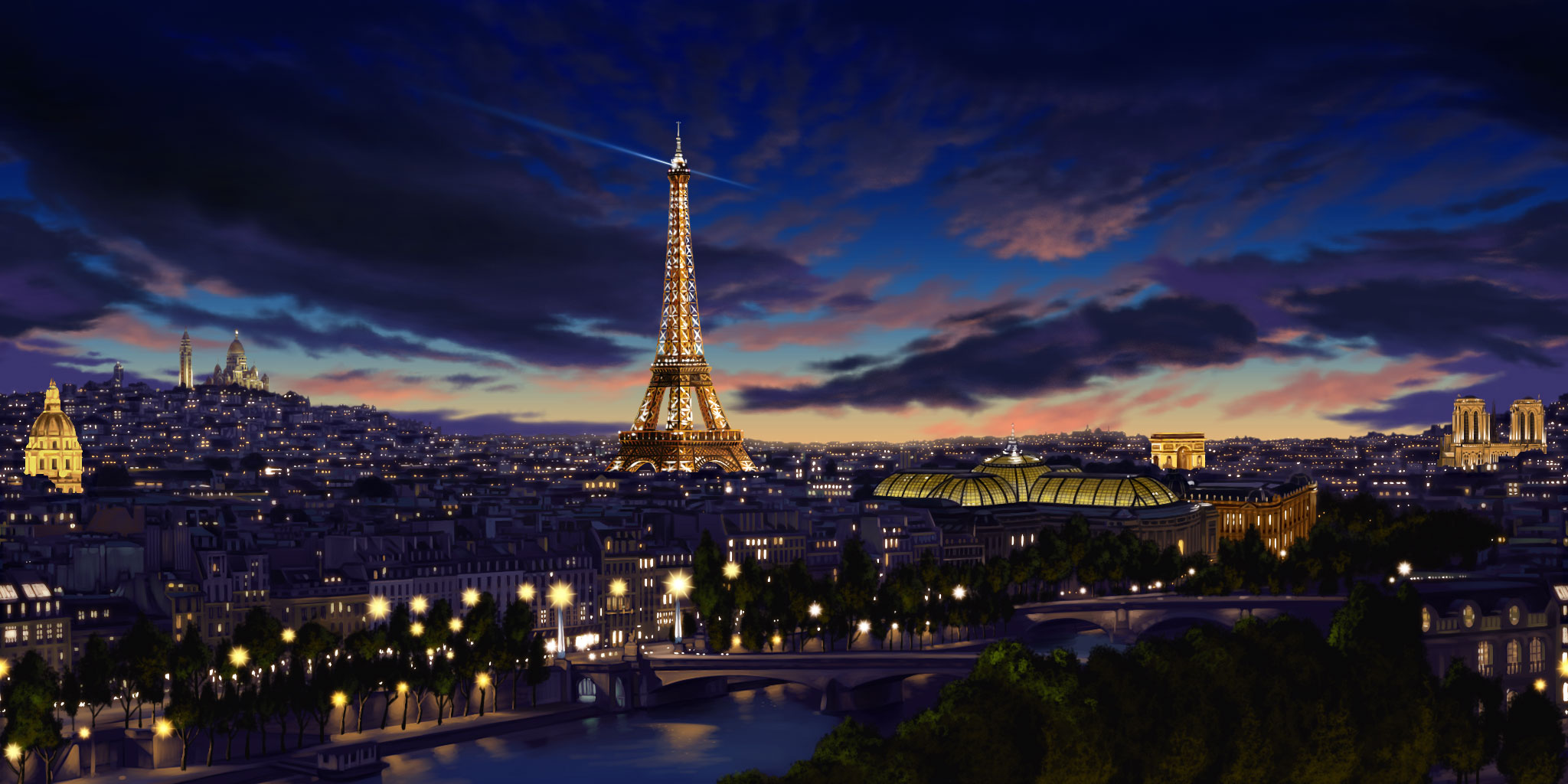 Paris by donjapy2011 on deviantart for Parigi wallpaper