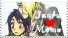 Izuru x Momo stamp by CurlyHairedDemon