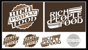 Rich People Food band logos concept