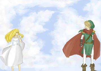 zelda and link by MuffinCrave