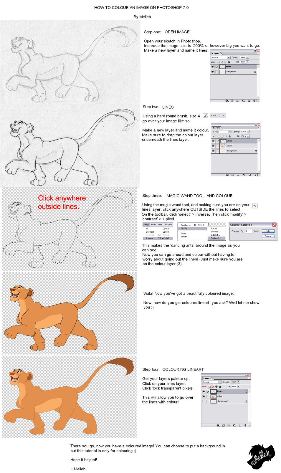 Photoshop colouring tutorial by melleh