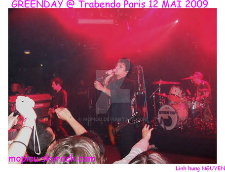 GREENDAY LIVE  PARIS MAY 2009