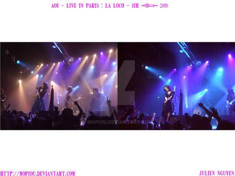 AOI live in Paris La Loco 2009