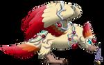 Shion greets Harpy eagle Keeper by vildtiger