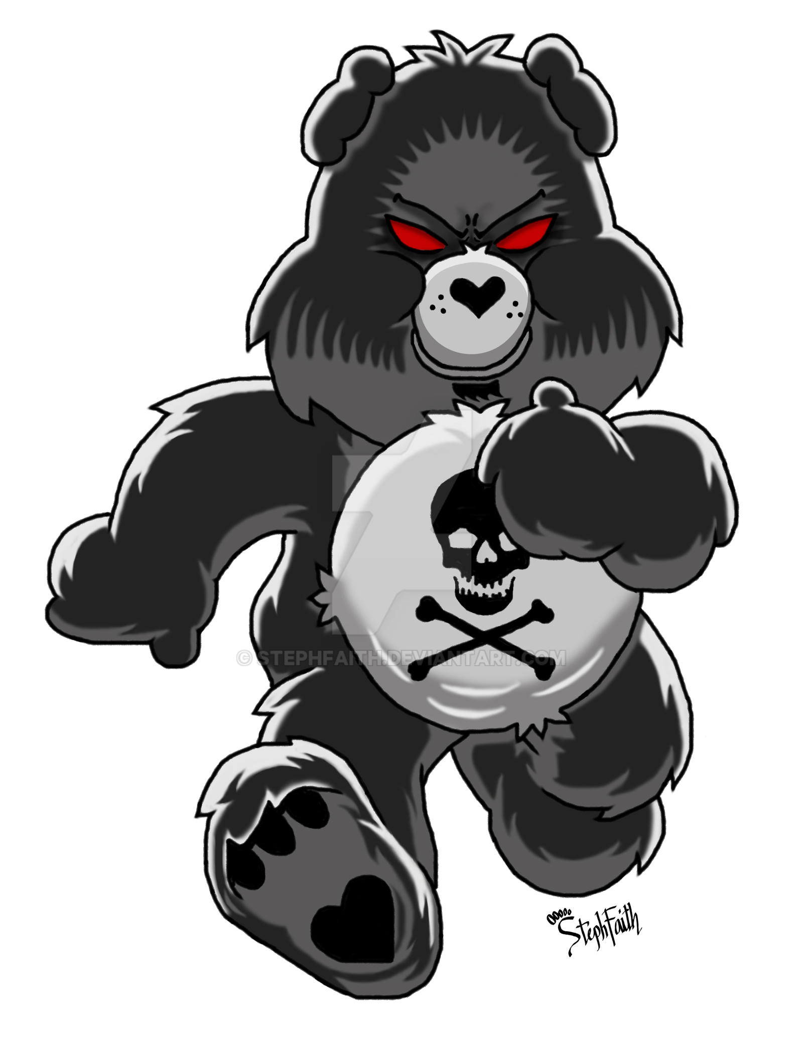 care bears gets toxic by stephfaith on deviantart hug clip art for kids hug clipart black and white