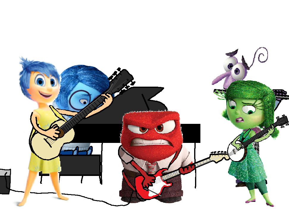 Inside Out Characters Playing Musical Instruments By