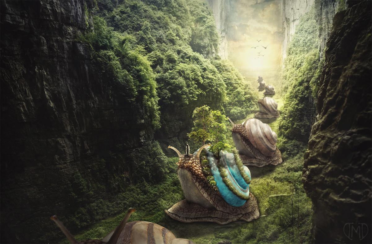 The Slow Journey by Majentta