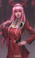 Zero Two fanart by d---ang