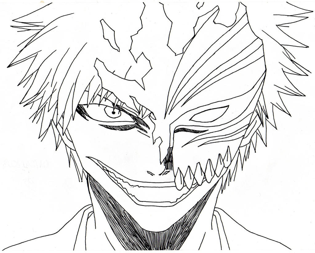 Bleach : Ichigo Kurosaki Hollow By Nozuke On DeviantArt