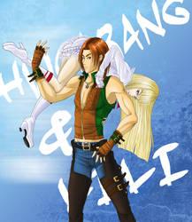 Hwoarang and Lili II by usankusai
