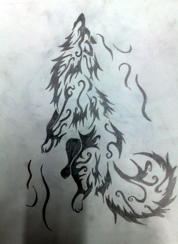 Wolf Element Wind-Tatoo by akshay1 on DeviantArt