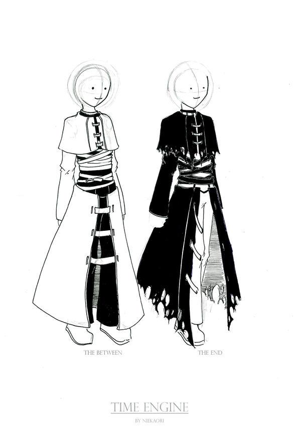 Time Keeper cloth design by niekaori