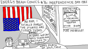 Energy Brain Comics #76: Independence Day 1985