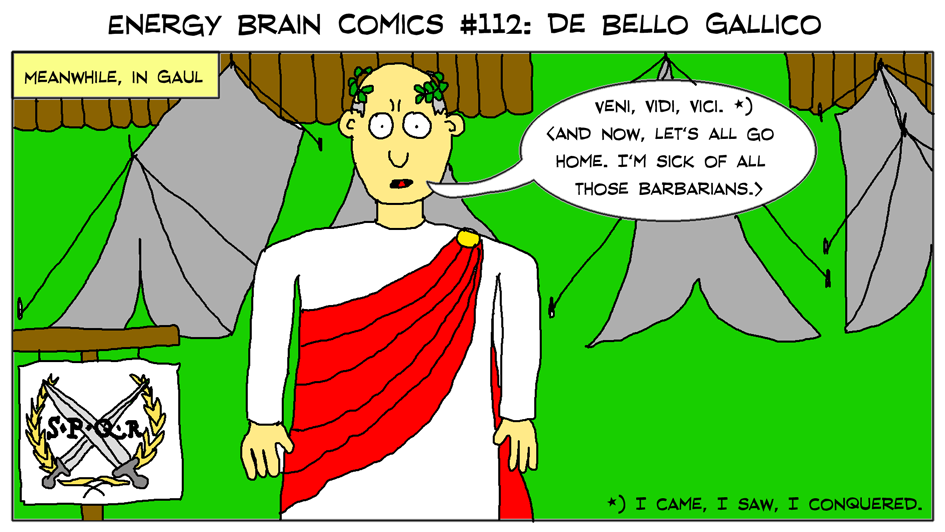 Energy Brain Comics 112 De Bello Gallico By