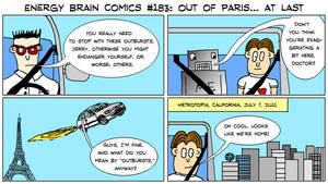 Energy Brain Comics #183: Out of Paris... at last