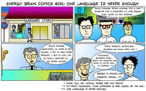 EBC #191: One Language Is Never Enough by EnergyBrainComics