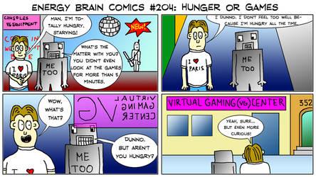 Energy Brain Comics #204: Hunger Or Games by EnergyBrainComics
