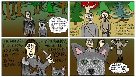 Arya And Nymeria by EnergyBrainComics