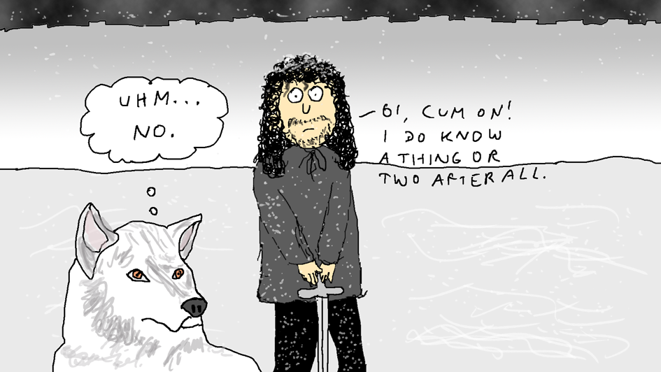 Jon Snow And Ghost by EnergyBrainComics