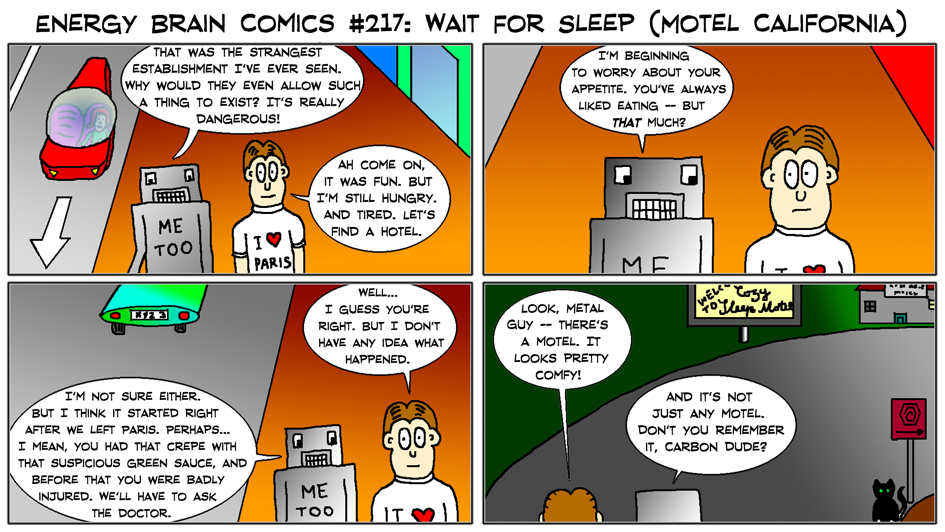 EBC #217: Wait For Sleep (Motel California) by EnergyBrainComics