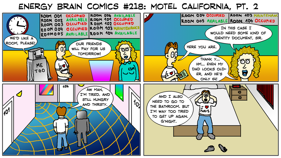 EBC #218: Motel California, Pt. 2 by EnergyBrainComics