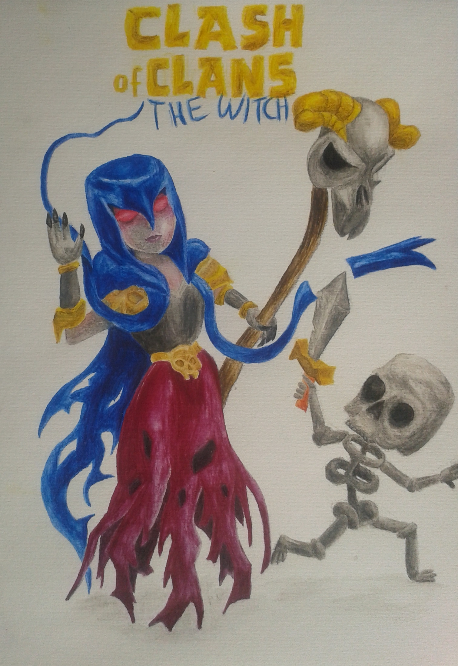 Clash of Clans Witch by xEismondx on DeviantArt