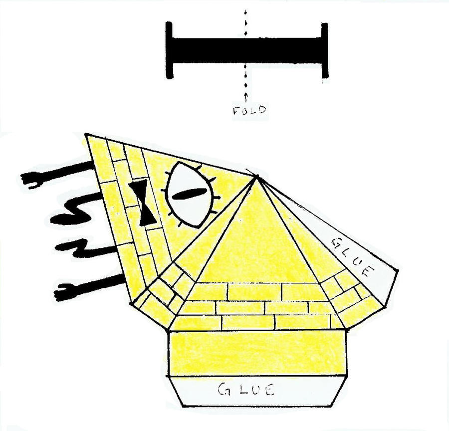 reupload bill cipher papercraft pattern color by