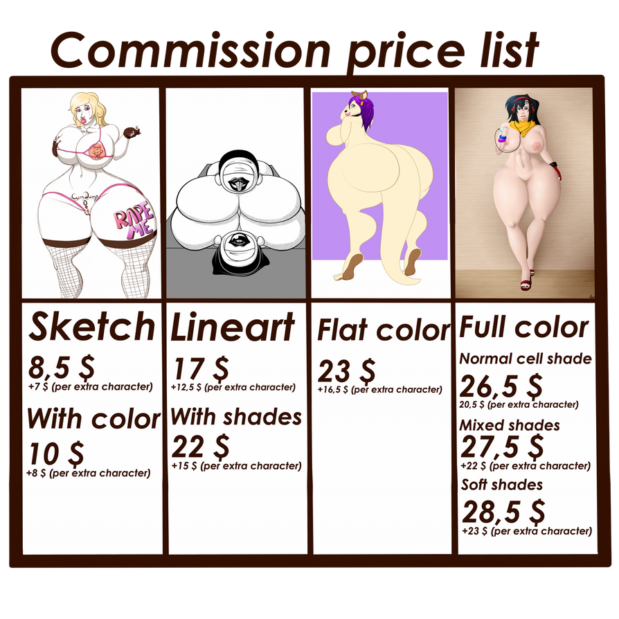 New commission price list! by 666zarike