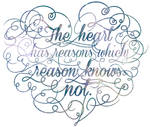 The heart has reasons