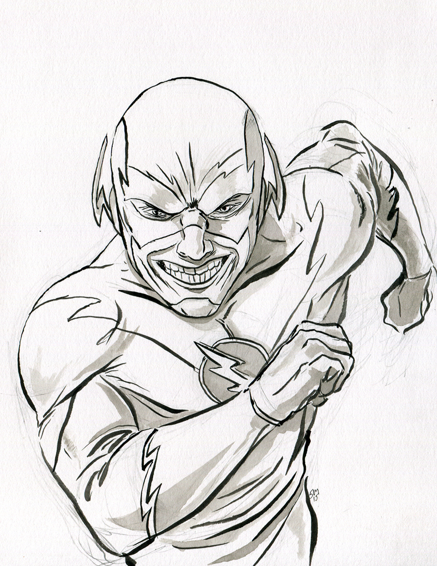Cw flash coloring pages