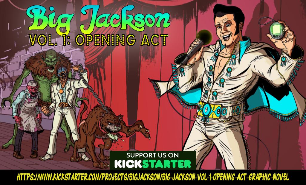 BIG JACKSON KICKSTARTER LIVE ON STAGE BUBBA! by Mardoza