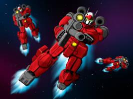 Guncannon Squad by Zenithalproject