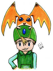 TK and Patamon by emmalemmadingdong