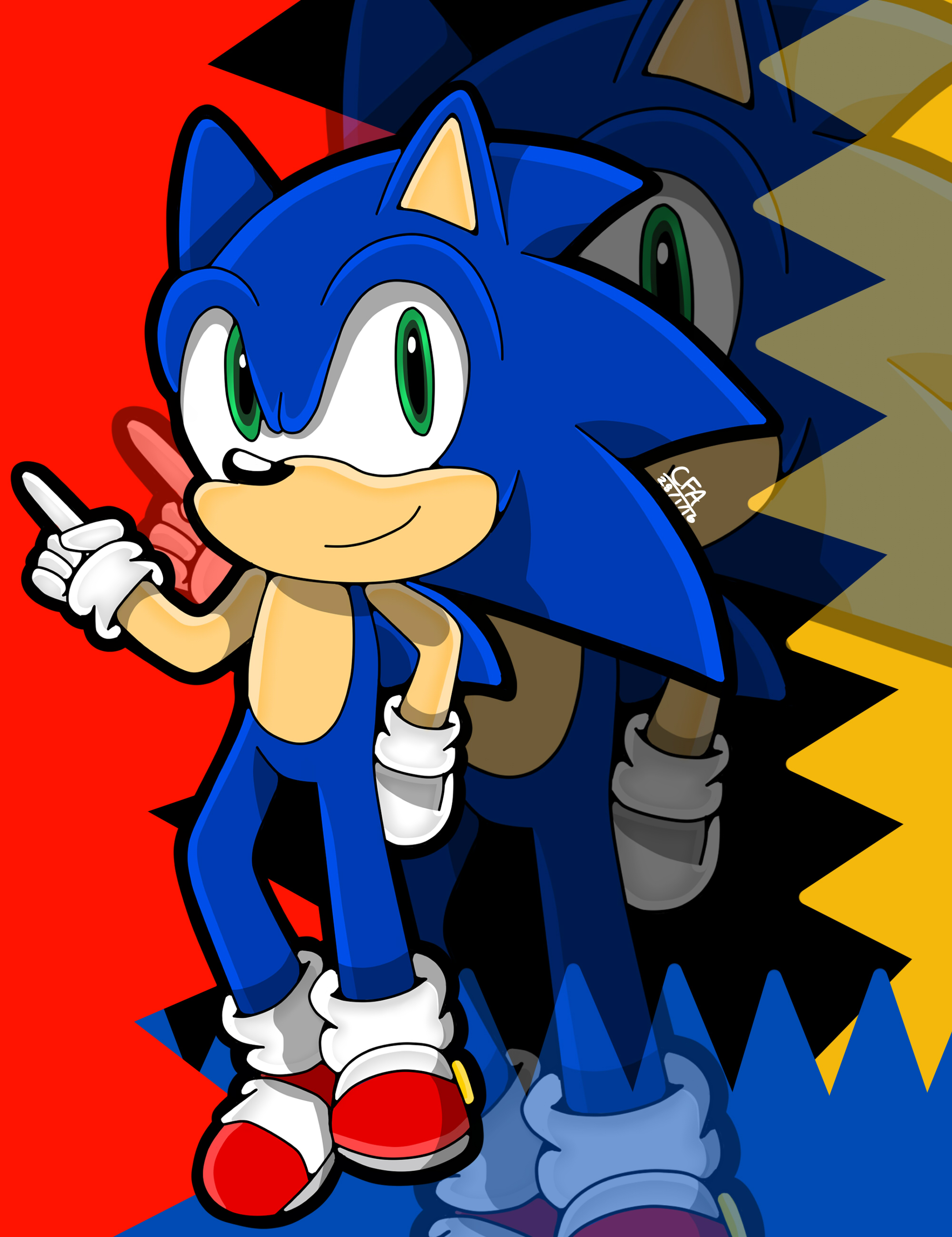 .:Sonic:. by CartoonFansArt