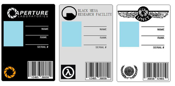 ID Cards Set By BadWolf On DeviantArt - Mad scientist name tag template