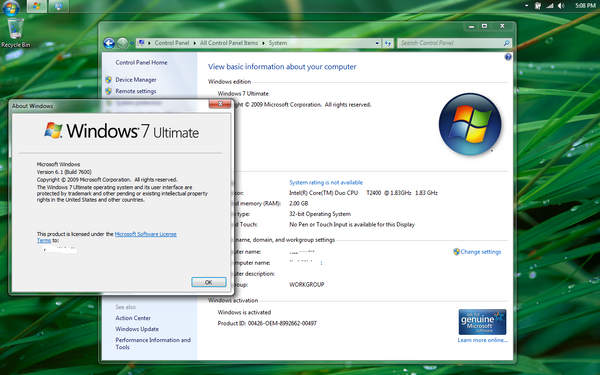 windows 7 rtm by spikegotti
