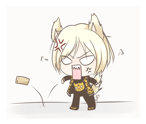 Angry Cat Anime Girl