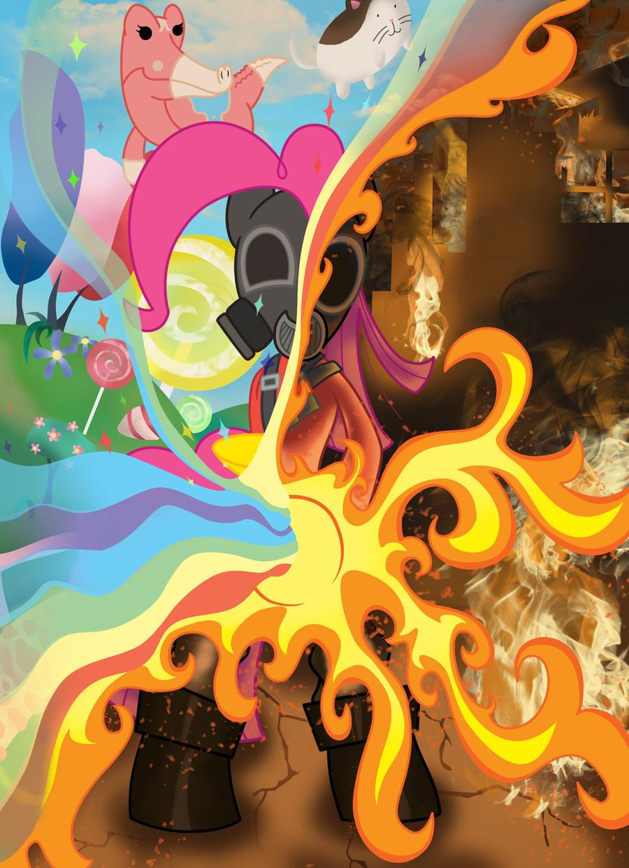 Pinkie Pie Pyro - Do You Believe In Magic by BioRazz