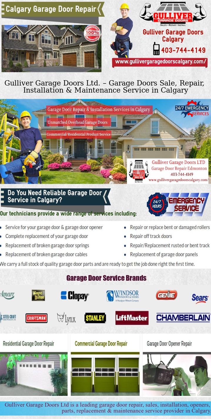 Calgary Garage Door Repair Sales And Maintenance By