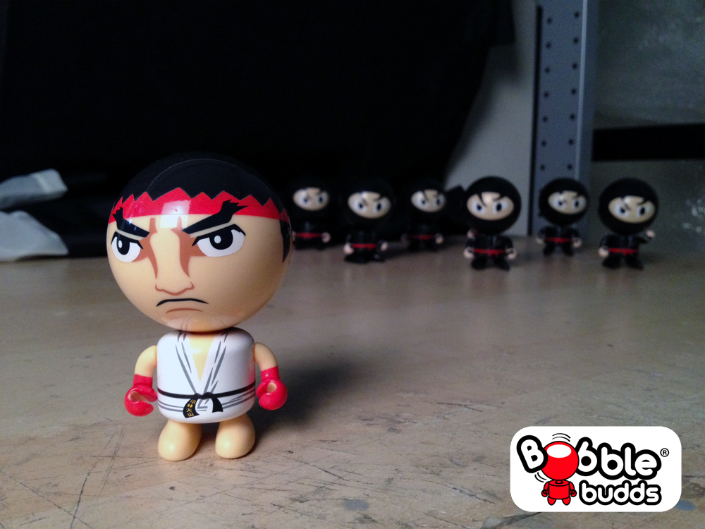 Bobble Budds Ryu could be in trouble!  Daily photo by BobbleBudds