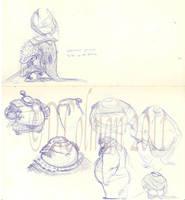 Samurai Sketches by davidsdoodles