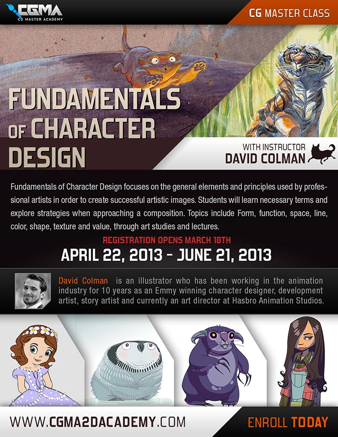 Fundamentals Of Character Design Class With David Colman : Cgma online class fundamentals of character design by