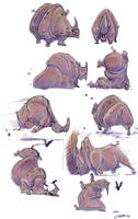 Rhino character sketches by davidsdoodles