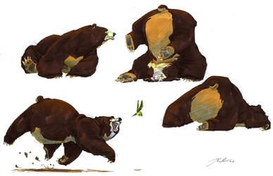 Playful Bears by davidsdoodles