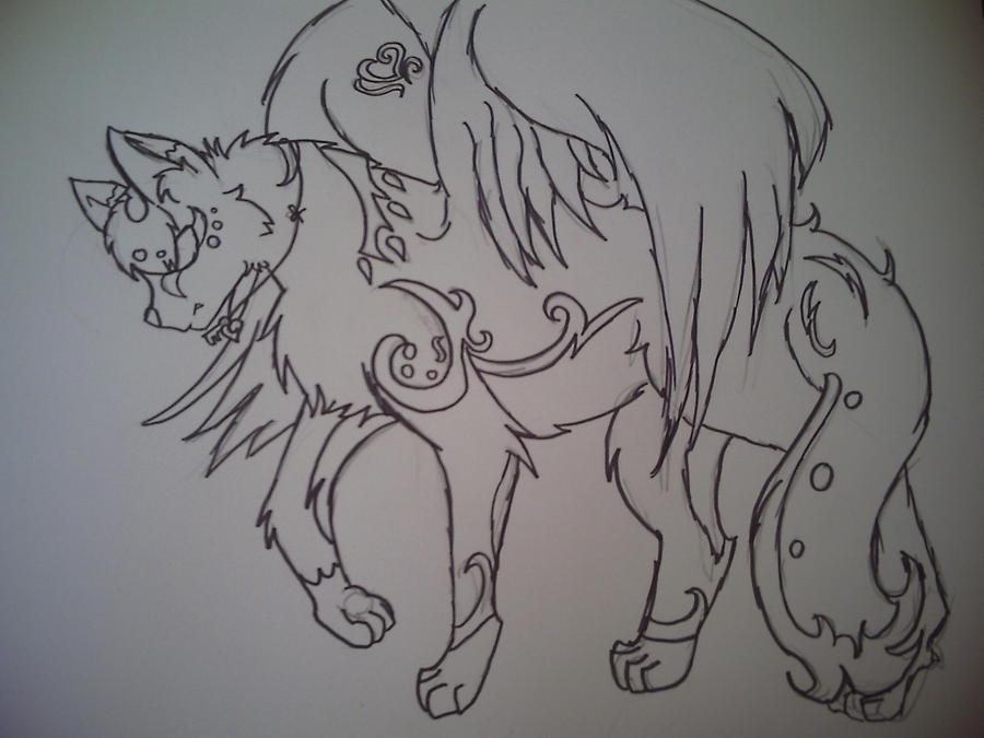 Winged Wolf Fursona new winged wolf fursona