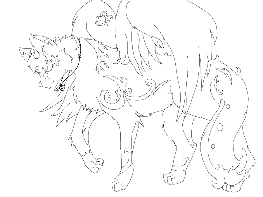 winged wolf coloring pages - the gallery for female wolf base